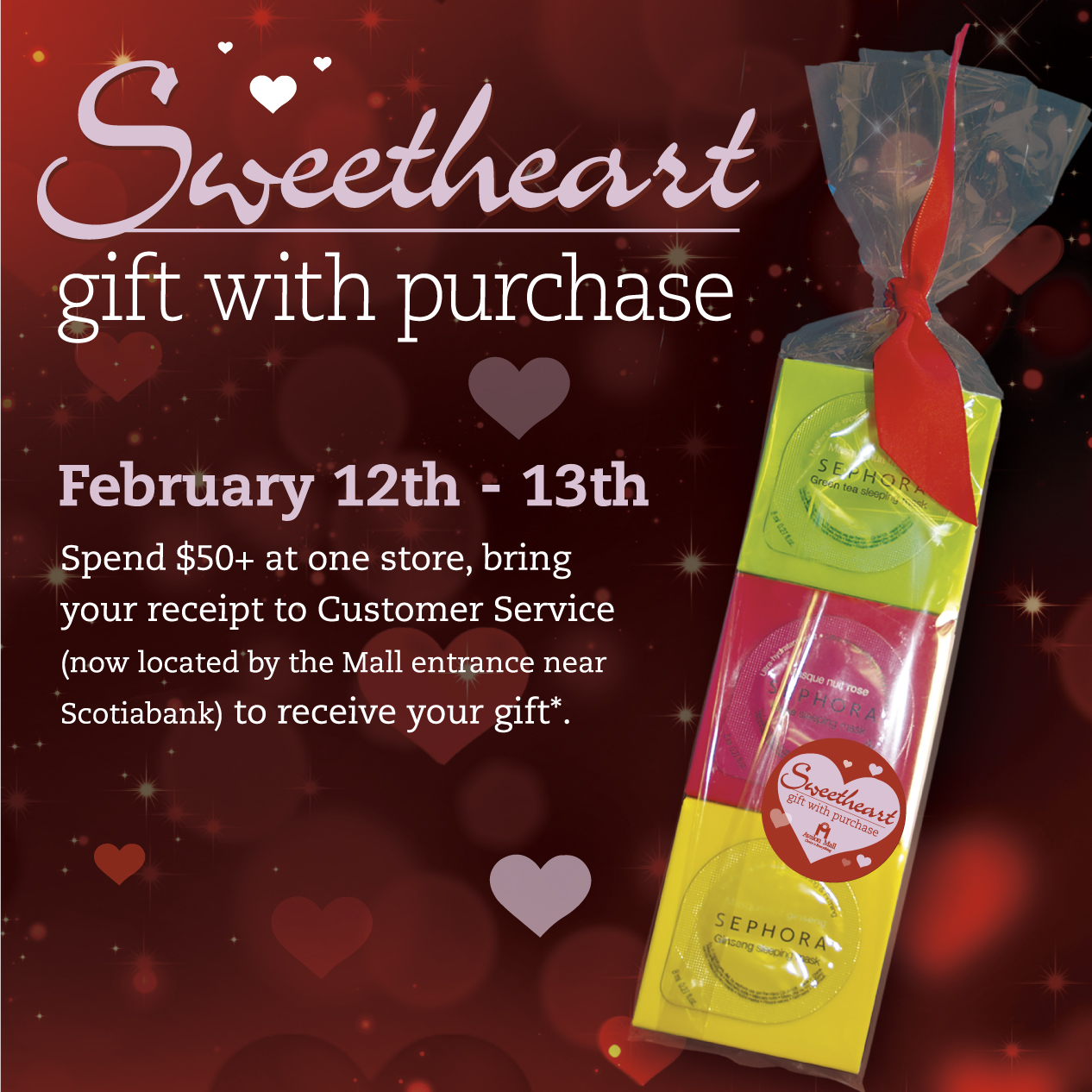 Sweetheart Gift with Purchase