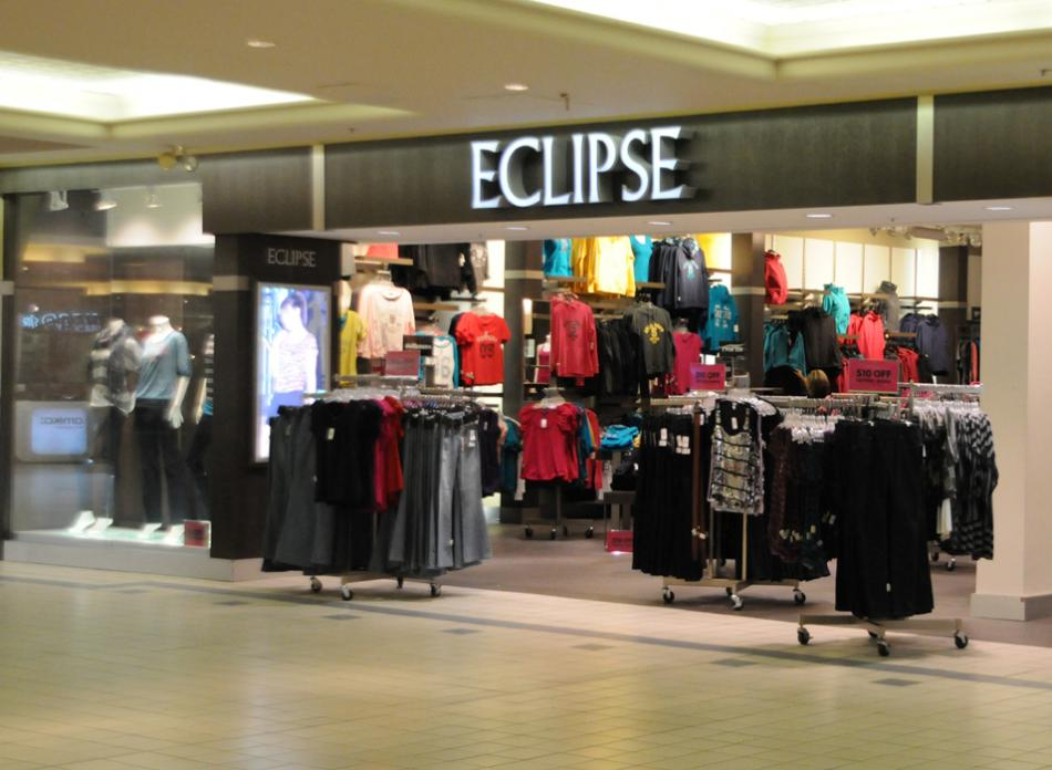 Stock Photo - european fashionable clothing store in beautiful mall